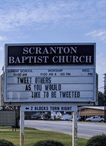 Apparently the internet has influenced small town churchs now