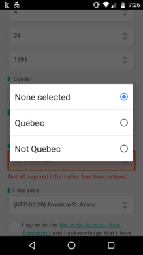 Apparently there is only  places to live in Canada