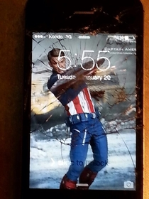 Appropriate way to use a cracked screen