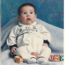 As a baby I slept a lot The photographer had to wake me up constantly for a decent picture