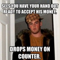 As a grocery store cashier I hate this guy