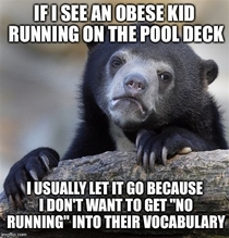 As a lifeguard at a pool with a strict no running policy