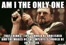 As a method of paying staff tipping is ridiculous