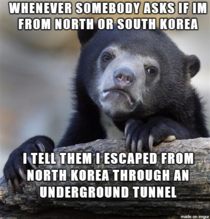 As a South Korean living in America I Get asked this a lot Sometimes I like to fuck with people