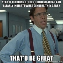 As a tentative male shopper