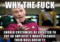 As an Australian seeing all these posts about tipping workers because its not fair what theyre getting paid