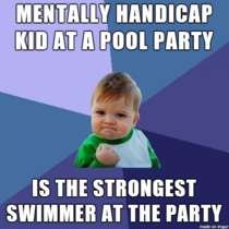 as his swim coach and the life guard of the party i was really proud of him