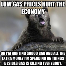 As I read yet another article on how low gas prices are hurting the economy