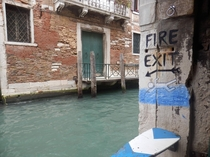 As seen in Venice Italy