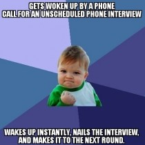 As someone that is actively looking for work this was a great start to my day