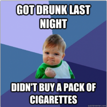 As someone who is trying to quit smoking