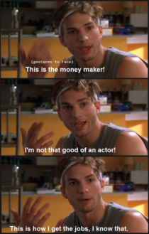 Ashton Kutcher explains his entire career - Meme Guy