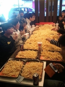 Asians  french fries