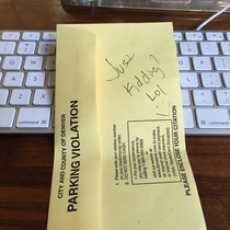 Asked the meter maid about street parking she said I was fine to park for the day Went to lunch came back to find this