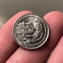 At first glance I thought this was a Bob Ross Quarter