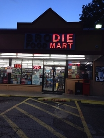 At night the otherwise harmless brodie foodmart turns evil