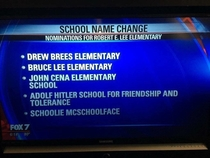 Austin TX Elementary School Attempt at Crowd Sourcing Ideas to Replace Currently Racist Name
