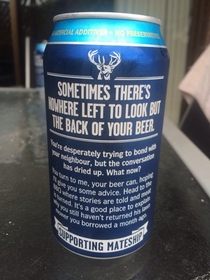 Australian beer helping us Aussie blokes out of awkward situations