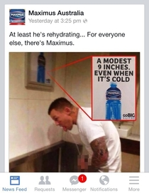 Australian NRL player Todd Carney is caught in a compromising situation sports drink company Maximus jumps on a brilliant publicity opportunity x-post raustralia