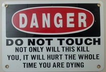 Australias most reproduced warning sign