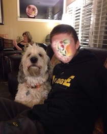 Automatic face swap with my dog went amazing