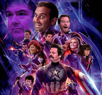 Avengers but with the cast of Parks and Recreation