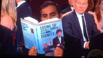 Aziz Ansari at the Golden Globes