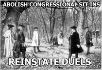 Back when disagreements in congress were settled by men