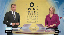 Backdrop fail on the national news regarding eye care treatment for the elderly in Norway