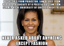 Bad Luck Michelle Obama -- seriously who cares what her biggest fashion regret is