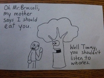 Bad mothed broccoli