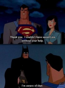 Batman and modesty go hand in hand
