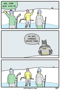 Batman cant play hockey
