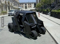 Batmans golf cart