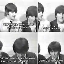 Beatles being funny