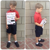 Been staring at this for months now figured I would share my sons first day at school