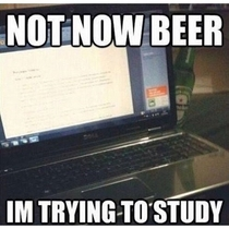 Beer Is the Enemy of Finals