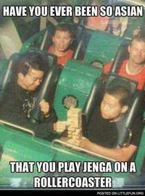 Being Asian Level Roller-coaster