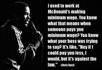 Being paid minimum wage