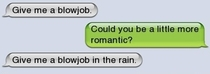 Being romantic