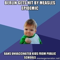 Berlin knows how to deal with measles
