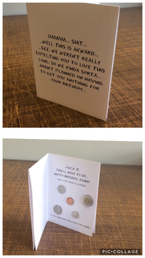 Best friend has a terminal heart condition and has been given X number of years to live more times than we can count Hes still kicking and his birthday was on the weekend So I made him a card