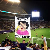 Best sign at a sporting event ever