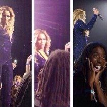 Beyonce looked at me with disgust