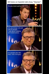 Bill Gates life of the party