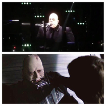 Billy Joel playing the Harmonica looks like dying Darth Vader