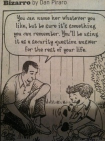 Bizarro on naming your dog