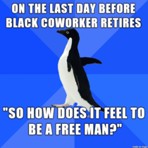 Black Co-worker Retires
