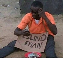 Blackberry cures blind man