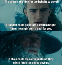 Book Gandalf was a sarcastic smartass